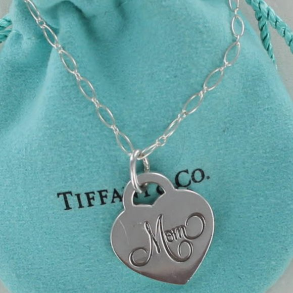 SOLD OUT- Tiffany Heart MOM Pendant Necklace 21""